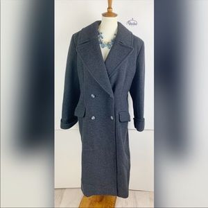 Christian Dior Gray Collared Winter Trench Coat